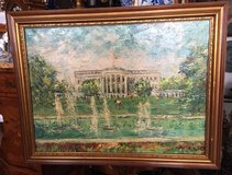 White House oil painting in Spangdahlem, Germany
