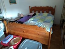 Queen bed frame & mattress in Ramstein, Germany