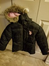 Little girl Polo jacket size 5 to 6 and boots size 10 in Fort Polk, Louisiana