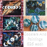Moon phase paintings, originals on SALE in Camp Pendleton, California