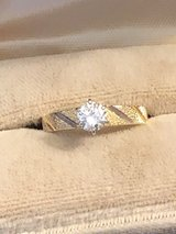 Vintage 1/2 Carat Diamond Engagement Ring - Decorative Gold Mounting - Perfect Condition in New Lenox, Illinois