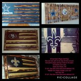Hand Painted, All Wood Sports Decor in Fort Hood, Texas