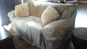Love Seat Sofa Couch w/Sure Fit Upholstered Cover-Sandwich. 60548 Location in Bolingbrook, Illinois