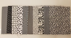 Lot of 10 assorted black/white American quilting fabrics (5 yards total) in Stuttgart, GE