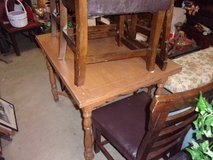 Table With Pull Out Leaves and Five Chairs Set in Fort Riley, Kansas