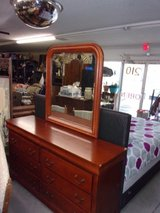Three Piece Dresser, Mirror and Chest of Drawers in Fort Riley, Kansas