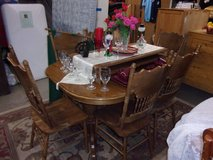 Oak Oval Table With Six Chairs Set in Fort Riley, Kansas