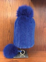 Mink hat with fox/tassel and fox key chain in Chicago, Illinois