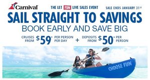 carnival 50.00 deposit sale in Cleveland, Texas