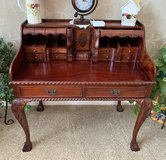"""VINTAGE STYLE BEAUTIFUL MAHOGANY DESK WITH MANY """"HIDDEN DRAWERS"""" makes this desk truly unique. S... in Lockport, Illinois"""