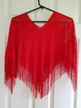BRAND NEW! Red Lace Shawl Poncho in Fort Campbell, Kentucky