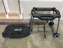 Weber Q grill portable stand and cover in Joliet, Illinois