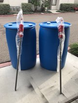 Two 55 gallon drums in Camp Pendleton, California