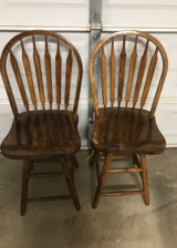 2 Wooden Swivel Chairs in Nellis AFB, Nevada