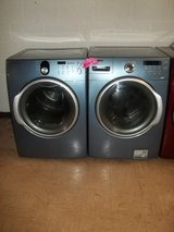 Samsung F-load Waher & Dryer set; Blue in Fort Bragg, North Carolina