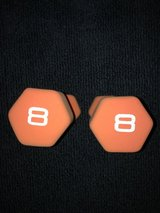 2 NEW Cap Neoprene Dipped Dumbbell 8 lb. Weights in Camp Lejeune, North Carolina