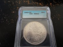 1882 CC ms 63 morgan dollar in Clarksville, Tennessee