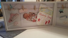With the dates of birth Embroidered diaper with frame and Led light in Ramstein, Germany