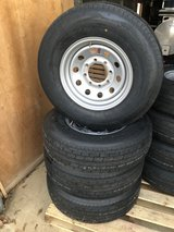 """New 16"""" 8 Lug Trailer wheels and Tires in Leesville, Louisiana"""