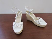 White Wedge Sandals in Algonquin, Illinois