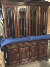Solid Wood 2 pc China Cabinet in The Woodlands, Texas