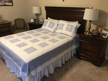 Beautiful Bedroom Set with night tables, lamps and firm mattress in Spring, Texas