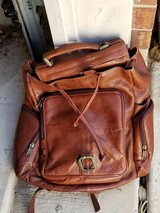 Brown Leather Back Pack in Kingwood, Texas