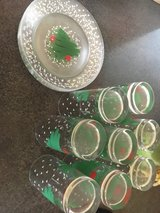 Christmas plates & glasses in Orland Park, Illinois