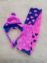 Girls Ultra Soft Hat and Scarf Set in Okinawa, Japan