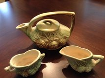 McCoy Pine Cone Teapot with Creamer & Sugar in Cherry Point, North Carolina