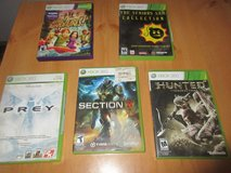 Xbox 360 GAME LOT OF 5 , Hunted , PREY , KINECT ADVENTURES , SERIOUS SAM , MORE in 29 Palms, California