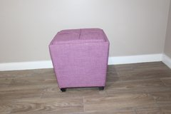 Purple Ottoman with storage/ Serving tray in Tomball, Texas