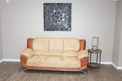 Modern sofa- Orange/Beige in Kingwood, Texas