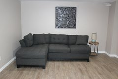 Tufted Sectional- Cindy Crawford (charcoal grey) in Tomball, Texas