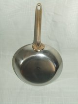 Paul Revere Skillet Saute Fry Pan Stainless Steel Copper Brass Handle in Lockport, Illinois
