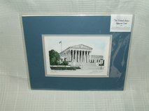 The United States Supreme Court Matted Print by Andrew Paul in Naperville, Illinois