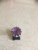 Amethyst sterling silver ring. Approx. Size 6 3/4 -7 in Fort Leonard Wood, Missouri