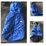 SM blue dog coat from Top Paw in Joliet, Illinois