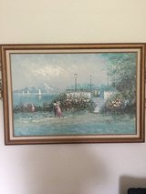Framed canvas Oil Painting  24 X 36 signed By Dupont in Travis AFB, California