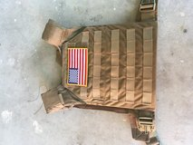 Grey ghost plate carrier with (2) 10lb Sorinex training plates. in Camp Pendleton, California