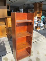 Vintage Small Solid Wood Knotty Pine Bookcase in Yorkville, Illinois