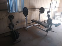 Weights set in Yucca Valley, California