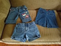 3-Pair Girls Jean Shorts (Adjustable), Size 6/6X in Fort Campbell, Kentucky