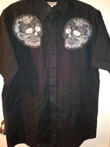Youth Skulls dress shirt in Spring, Texas