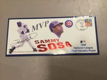 Chicago Cubs, Sammy Sosa, 1998 MVP First Day Cover in Joliet, Illinois