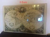 Decorative Old World Map in Ramstein, Germany