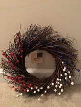NWT Red, White and Blue Berries Wreath in Camp Lejeune, North Carolina