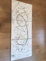 Splattered Canvas Art in Naperville, Illinois
