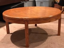"Oak 36"" Round Coffee Table in Chicago, Illinois"
