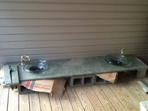 Granite 8ft x 2ft Countertop, Glass Bowls, Faucets in Beaufort, South Carolina